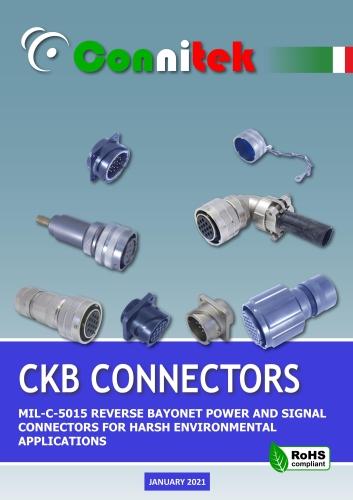 Catalogo Connitek CKB-CKBS connettori di potenza a baionetta MIL-DTL-5015 Militare - Industriale (48.1 MB)