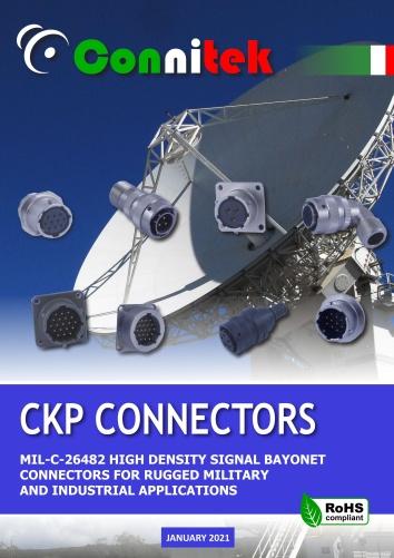Catalogo Connitek CKP connettori di segnale a baionetta MIL-DTL-26482 Militare - Industriale (49.21 MB)