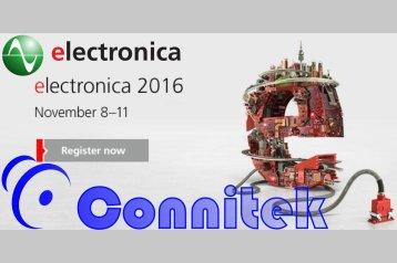 CONNITEK@ELECTRONICA 2016 - Fiera di Messe München (8-11 Novembre 2016)